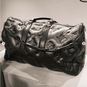 Louis Vuitton Black Monogram Quilted Keepall Bag
