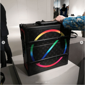Louis Vuitton Black Multicolor Monogram Trunk Bag