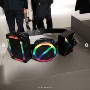 Louis Vuitton Black Multicolor Monogram Utility Belt Bag