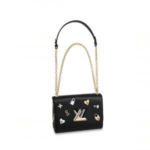 Louis Vuitton Black Twist MM Love Lock Bag