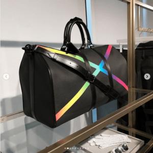 Louis Vuitton Black/Multicolor Keepall Bag