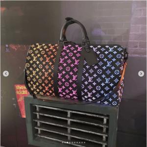 Louis Vuitton Black Multicolor Monogram Keepall Bag