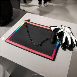Louis Vuitton Black/Multicolor Pouch Bag