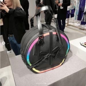 Louis Vuitton Black/Multicolor Round Bag