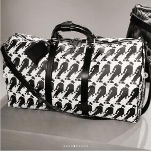 Louis Vuitton Black/White Michael Jackson Keepall Bag