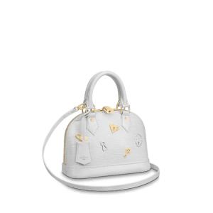 Louis Vuitton Blanc Epi Alma BB Love Lock Bag