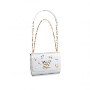 Louis Vuitton Blanc Twist MM Love Lock Bag