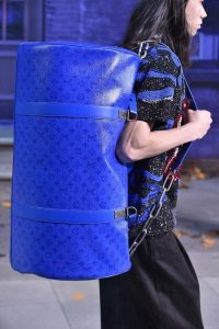 Louis Vuitton Blue Monogram Keepall Bag - Fall 2019