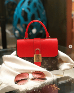 Louis Vuitton Coquelicot Monogram Canvas Locky BB Bag