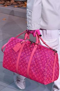 Louis Vuitton Fuchsia Pink Monogram Keepall Bandouliere Bag - Fall 2019