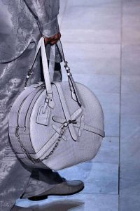 Louis Vuitton Gray Crocodile Round Bag - Fall 2019