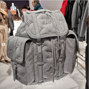 Louis Vuitton Gray Monogram Quilted Backpack Bag