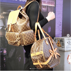 Louis Vuitton Monogram Canvas Backpack and Round Bags