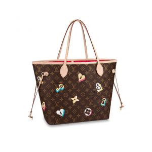 Louis Vuitton Monogram Canvas Love Lock Neverfull MM Bag