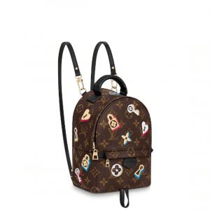 Louis Vuitton Monogram Canvas Love Lock Palm Springs Mini Backpack Bag