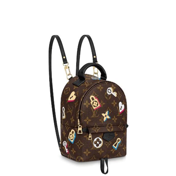 aec0a339604f Louis Vuitton Monogram Canvas Love Lock Palm Springs Mini Backpack Bag