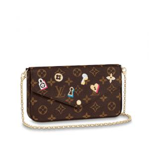 Louis Vuitton Monogram Canvas Love Lock Pochette Felicie Bag