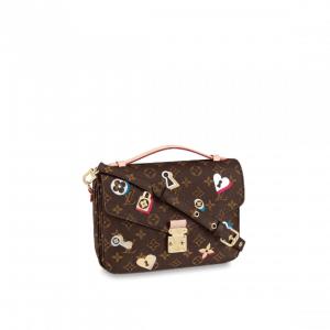 Louis Vuitton Monogram Canvas Love Lock Pochette Métis Bag