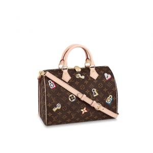 Louis Vuitton Monogram Canvas Love Lock Speedy Bandoulière 30 Bag