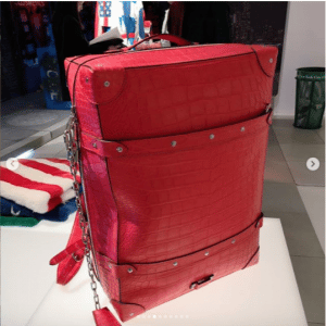 Louis Vuitton Red Crocodile Backpack Bag