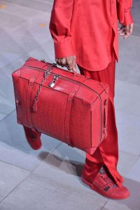 Louis Vuitton Red Crocodile Soft Luggage Bag - Fall 2019