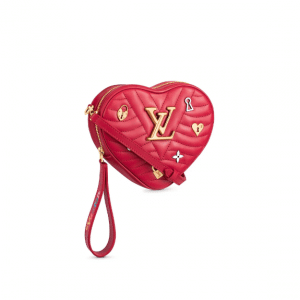 Louis Vuitton Red New Wave Love Lock Heart Bag