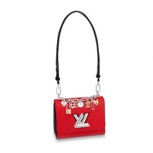 Louis Vuitton Red Twist PM Love Lock Charms Bag
