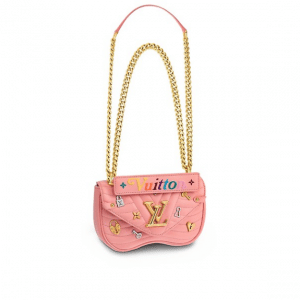 Louis Vuitton Rose New Wave Love Lock Chain MM Bag