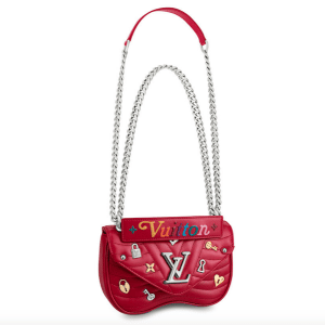 Louis Vuitton Red New Wave Love Lock Chain PM Bag
