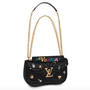 Louis Vuitton Black New Wave Love Lock Chain MM Bag