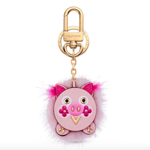 Louis Vuitton Wild Fur Pig Bag Charm and Key Holder