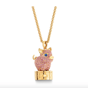 Louis Vuitton Vuittonite Pig Necklace