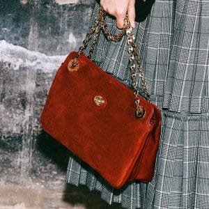 Gucci Red Suede Shoulder Bag