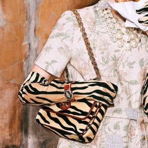 Gucci Zebra Print Arli Flap Bag