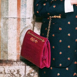Gucci Pink Crocodile Shoulder Bag