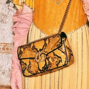 Gucci Yellow Python Arli Flap Bag