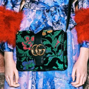 Gucci Black Floral Print Arli Shoulder Bag