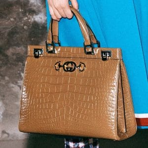 Gucci Tan Crocodile Top Handle Bag