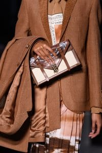 Burberry Brown/White Envelope Clutch Bag - Fall 2019