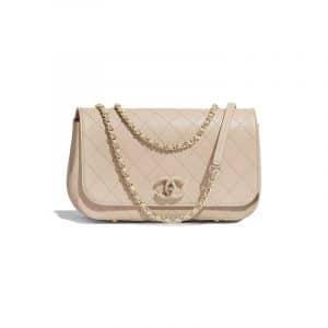 Chanel Beige Calfskin Flap Bag