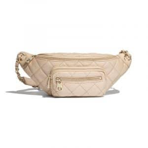 Chanel Beige Iridescent Grained Calfskin Waist Bag