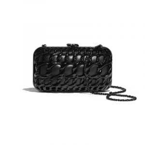 Chanel Black Aluminium/Lambskin Evening Bag