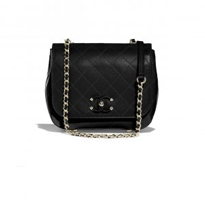 Chanel Black Calfskin Small Flap Bag