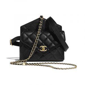 Chanel Black Calfskin Waist Bag