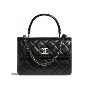 Chanel Black Trendy CC Small Top Handle Bag