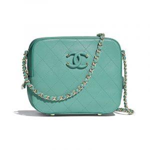 Chanel Green Calfskin Camera Case Bag