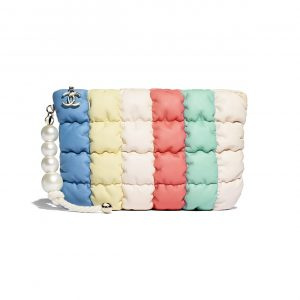 Chanel Multicolor Lambskin with Imitation Pearls Clutch Bag
