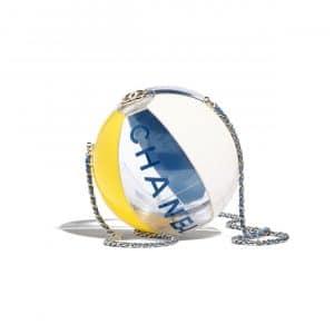 Chanel Navy Blue/Yellow/White/Transparent Beach Ball Minaudiere Bag