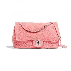 Chanel Orange Mixed Fibers Flap Bag