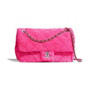 Chanel Pink Mixed Fibers Small Flap Bag